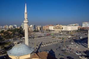 ALBANIA - Skanderbeg Square With The Ethem Bey Mosque, Tirana