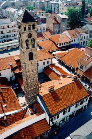 Cock Tower In Sarajevo