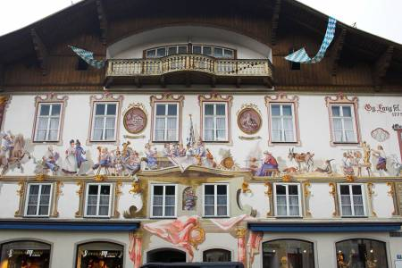 Frescoes on the Facade of Oberammergau Building