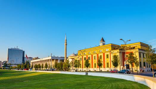 Palace of Culture in Tirana, Albania