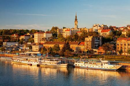 Panorama of Belgrade, Sava River