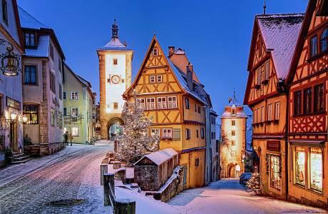 Plönlein in Winter Rothenburg