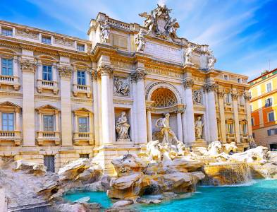 The Trevi Fountain Rome, Italy