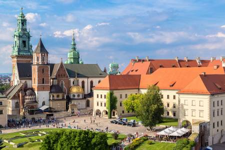 Wawel Cathedral On Wawel Hill In Krakow