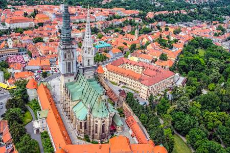 Zagreb Cathedral with Archbishop's Palace