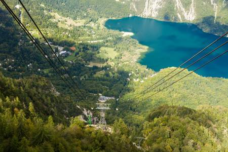 Lake Bohinj from Vogel cable car