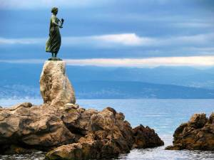 Girl With a Seagull - Symbolic Statue of Opatija