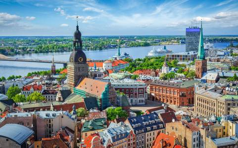 Aerial View Of Riga