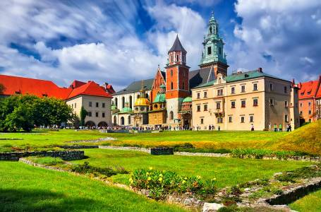 Historic Castle In The Old City Of Krakow