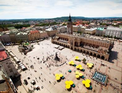 Main Market Square In Krakow