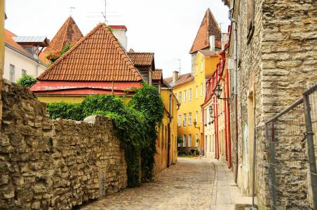 Old Street Of Tallinn, Estonia