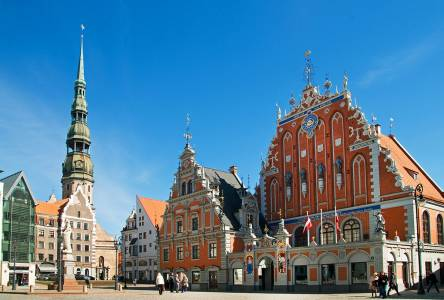 St.Peter Church And House Of The Blackheads, Riga