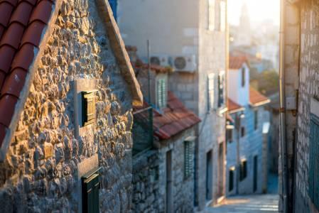 Street View In Old City Center Of Split